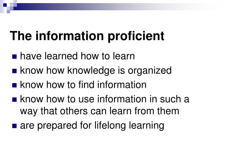 The information proficient