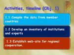 activities timeline obj 1