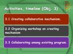 activities timeline obj 3