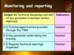 monitoring and reporting1