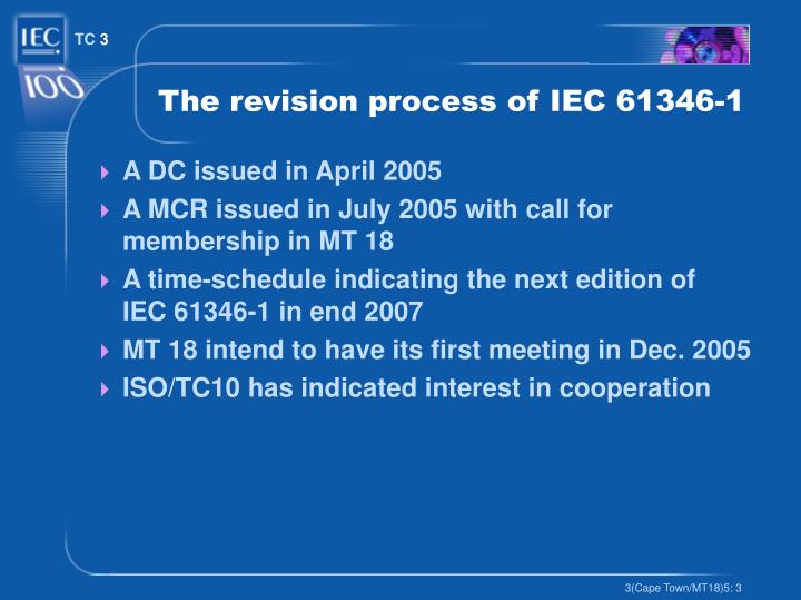 The revision process of IEC 61346-1