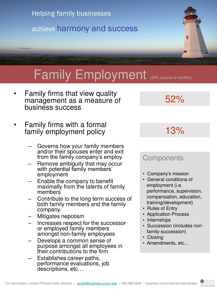 Helping family businesses