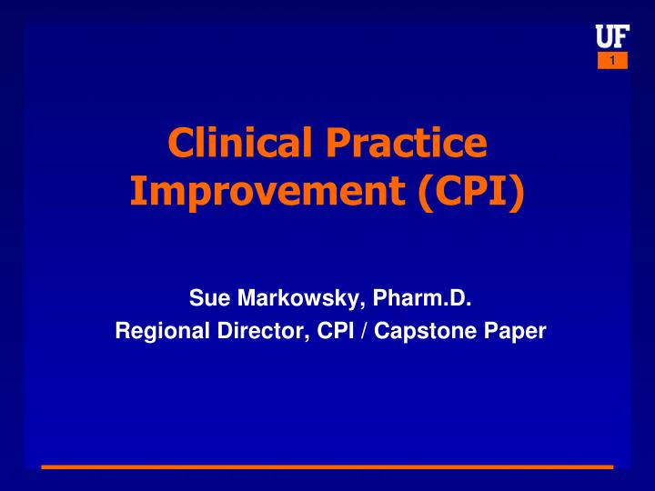 Clinical practice improvement cpi