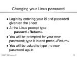 changing your linux password