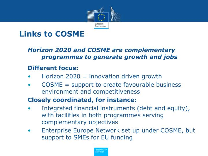 Links to COSME