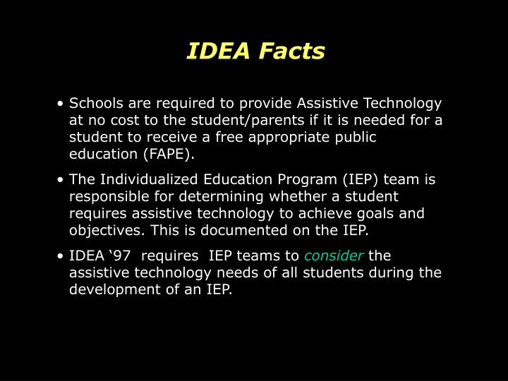 IDEA Facts