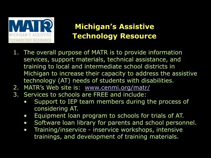 Michigan s assistive technology resource