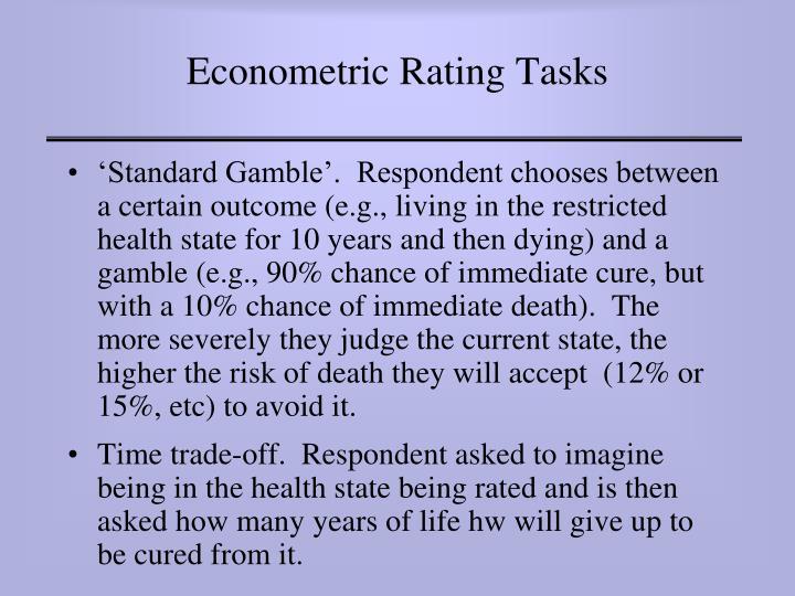 Econometric Rating Tasks