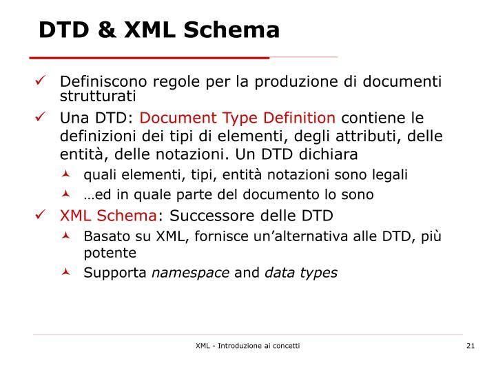 DTD & XML Schema