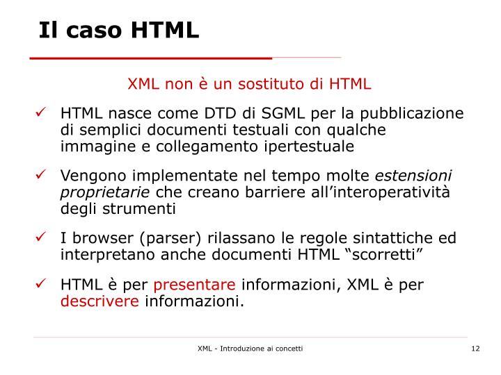 Il caso HTML