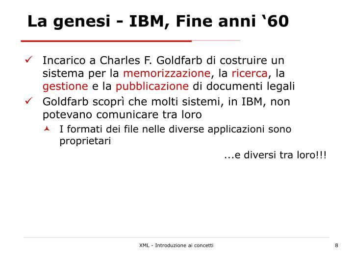 La genesi - IBM, Fine anni '60