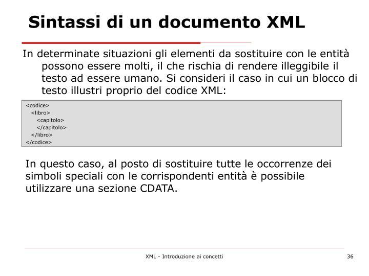 Sintassi di un documento XML