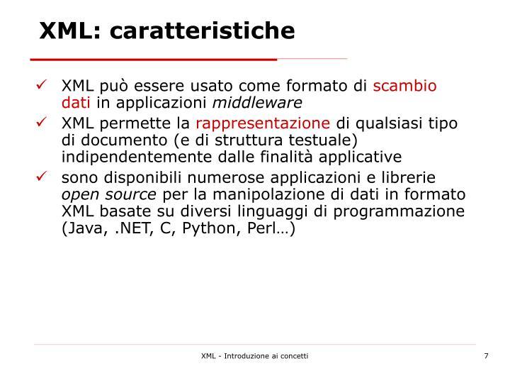XML: caratteristiche