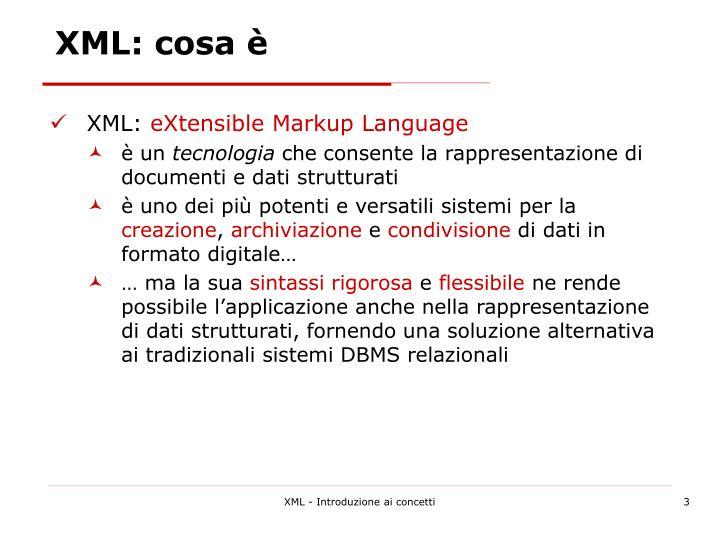 XML: cosa è