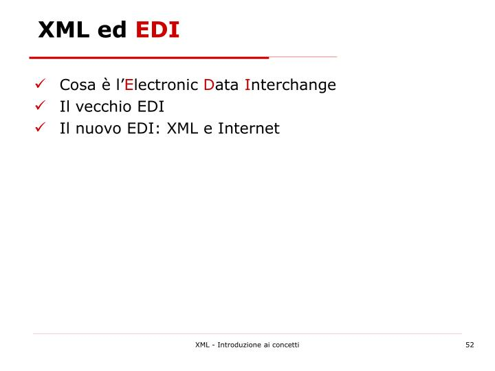 XML ed