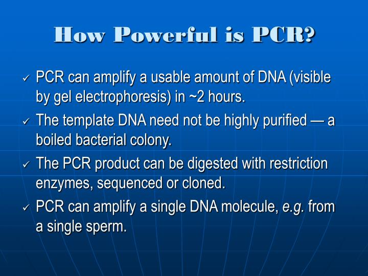 How Powerful is PCR?