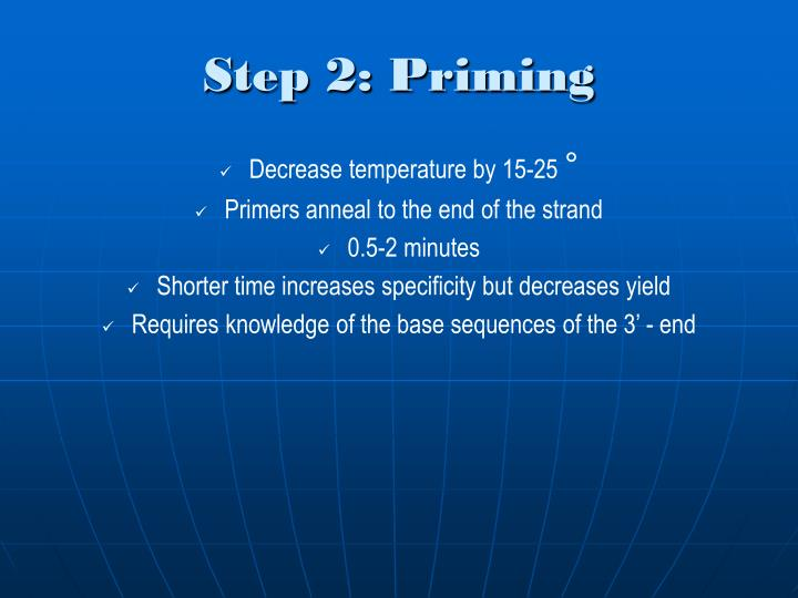 Step 2: Priming