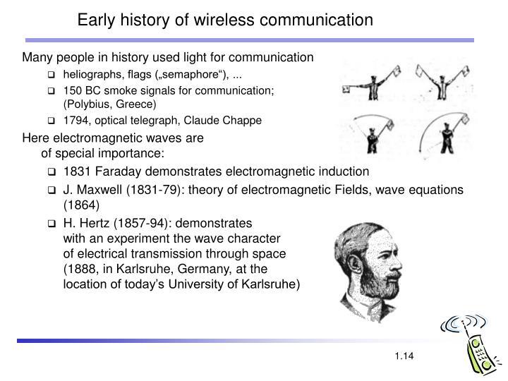 Early history of wireless communication