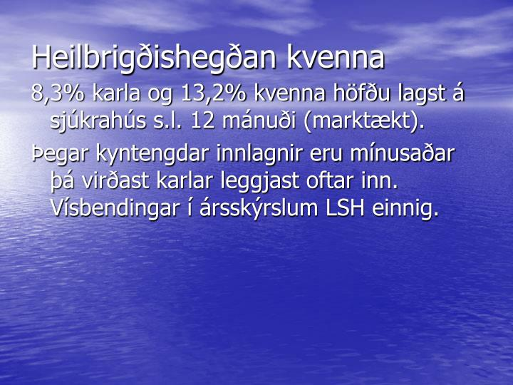 Heilbrigðishegðan kvenna