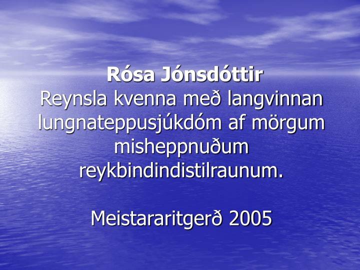 Rósa Jónsdóttir