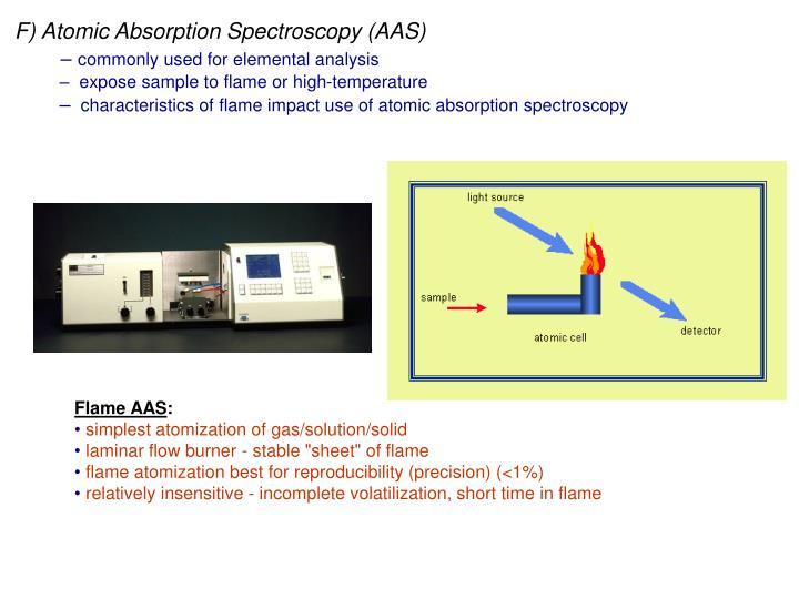 F) Atomic Absorption Spectroscopy (AAS)