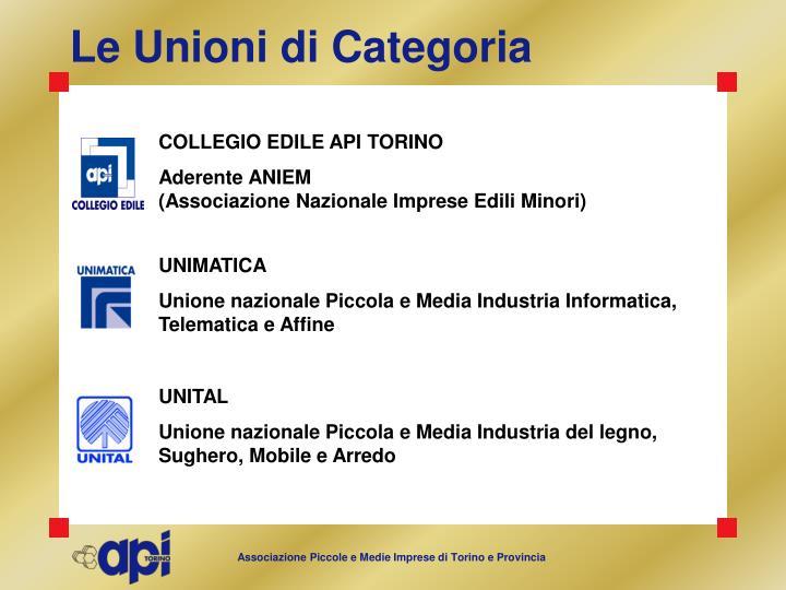 Le Unioni di Categoria
