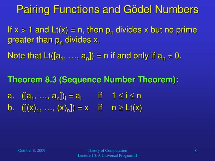 Pairing Functions and G