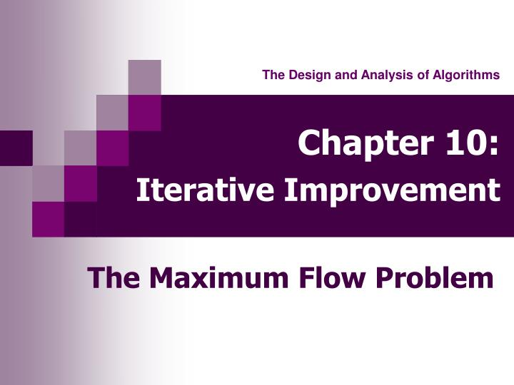 Chapter 10 iterative improvement