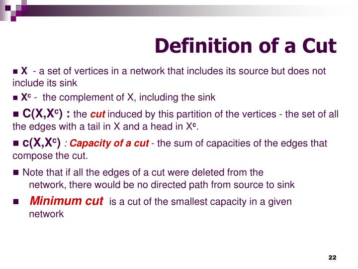 Definition of a Cut