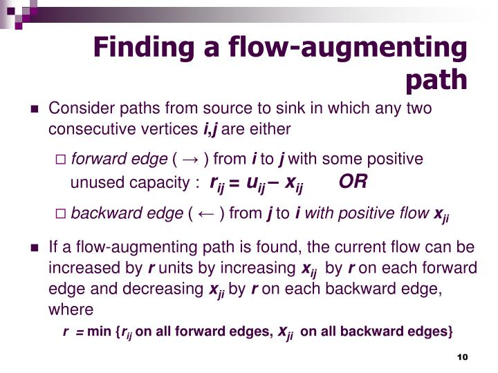 Finding a flow-augmenting path
