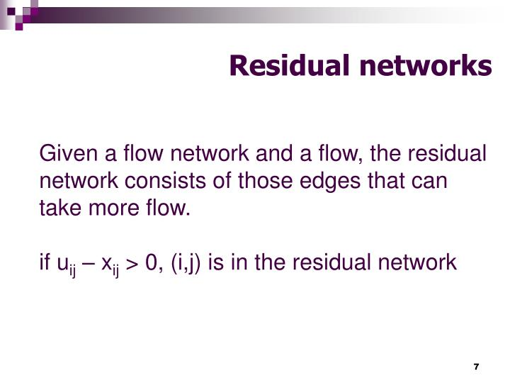 Residual networks