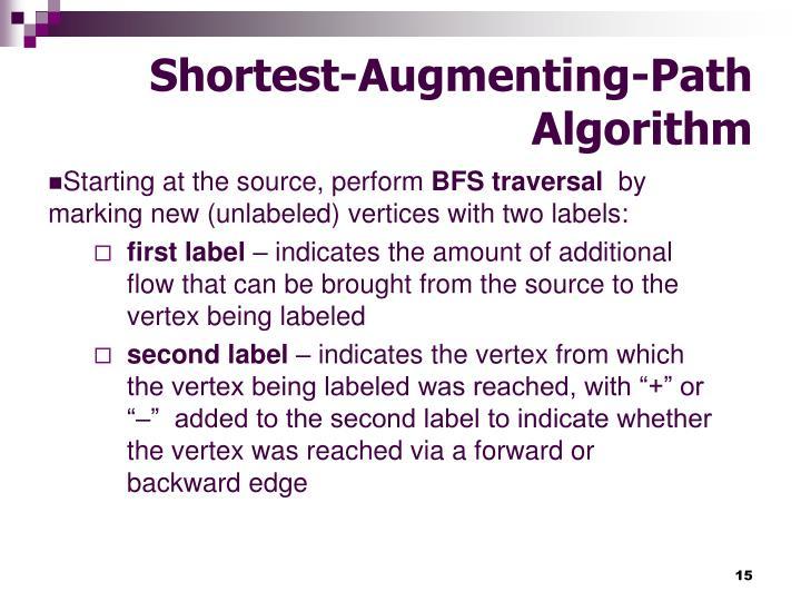 Shortest-Augmenting-Path Algorithm