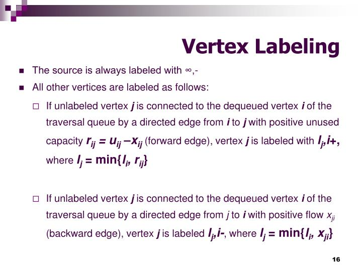 Vertex Labeling