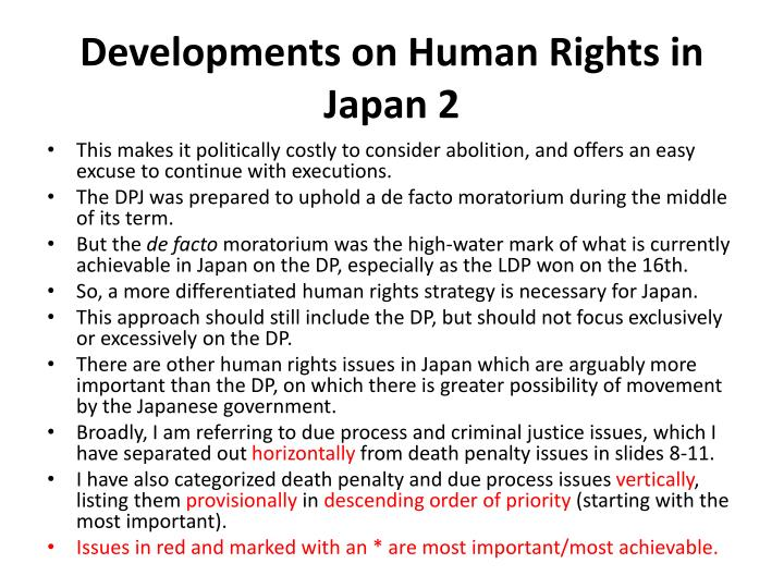 Developments on Human Rights in Japan 2