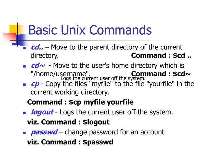 Basic Unix Commands
