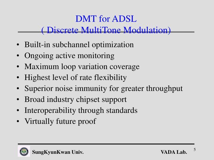 DMT for ADSL