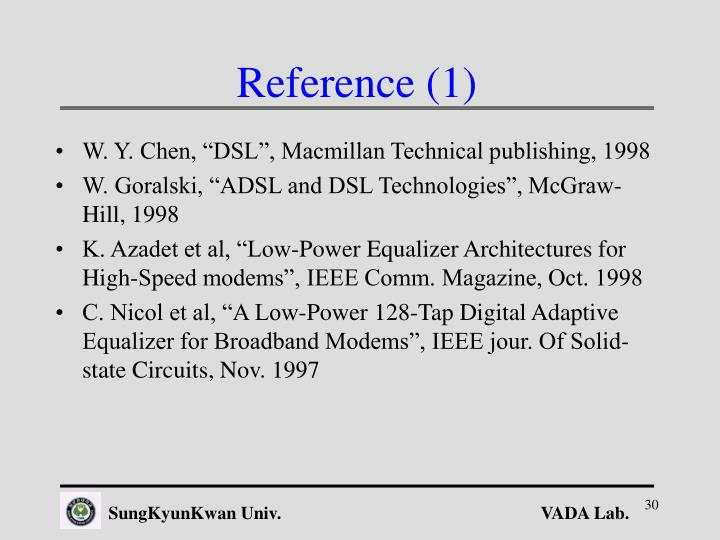 Reference (1)