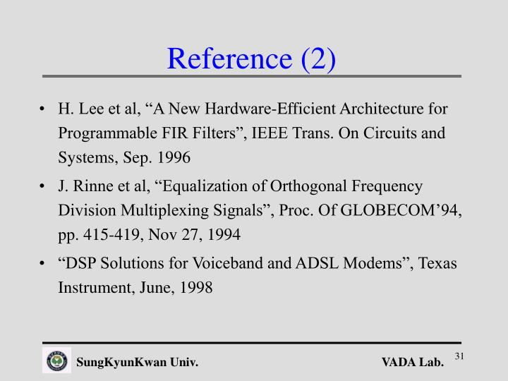 Reference (2)
