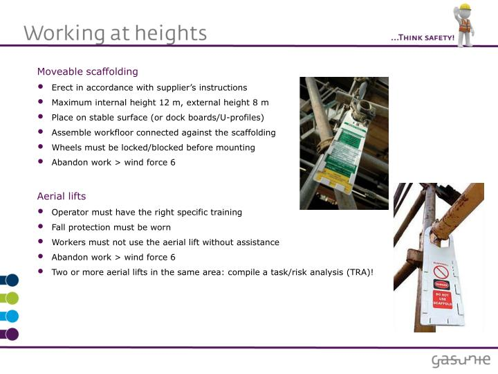 Moveable scaffolding