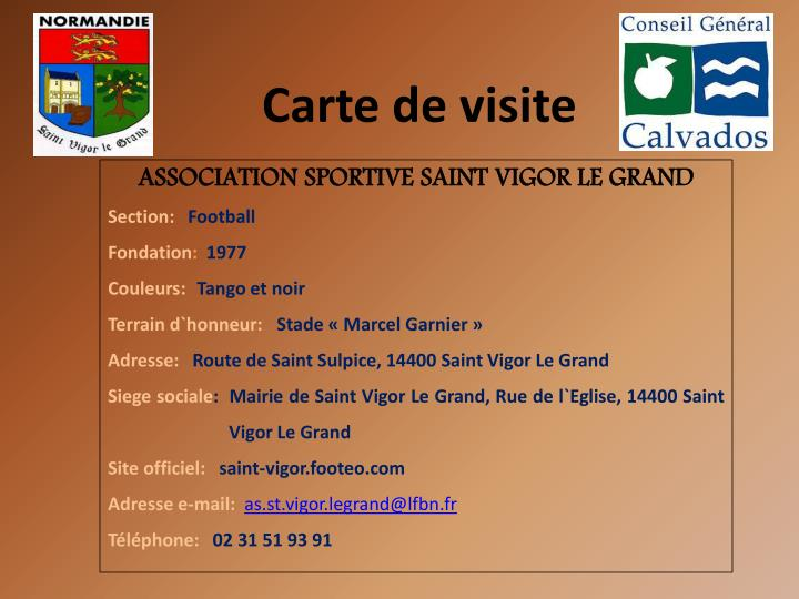 ASSOCIATION SPORTIVE SAINT VIGOR LE GRAND