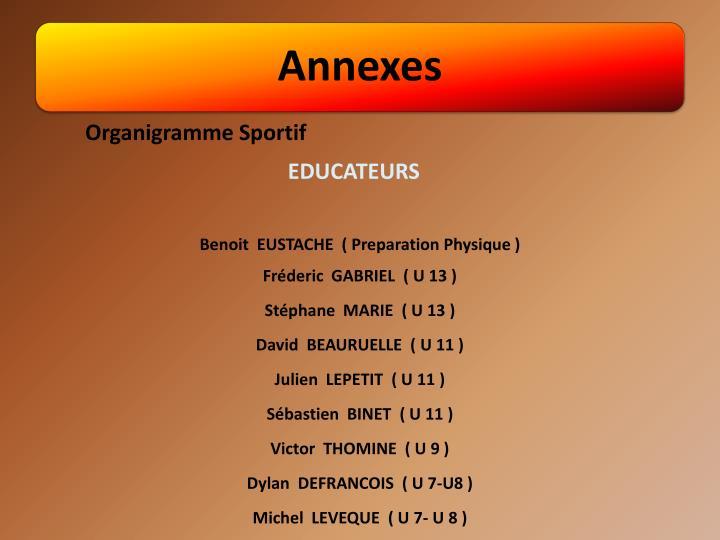 Organigramme Sportif