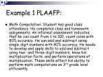 example 1 plaafp