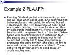 example 2 plaafp