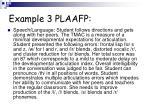 example 3 plaafp
