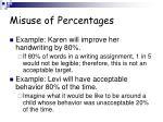 misuse of percentages