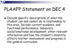 plaafp statement on dec 4