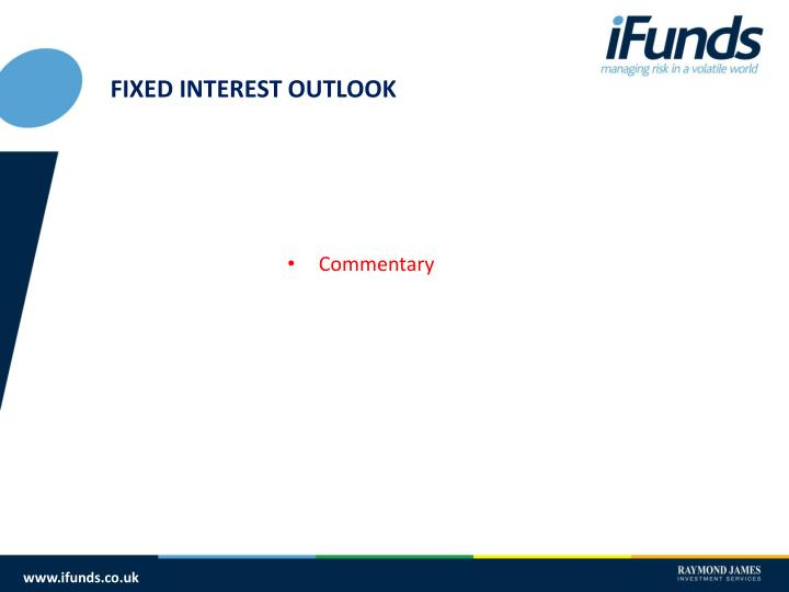 FIXED INTEREST OUTLOOK