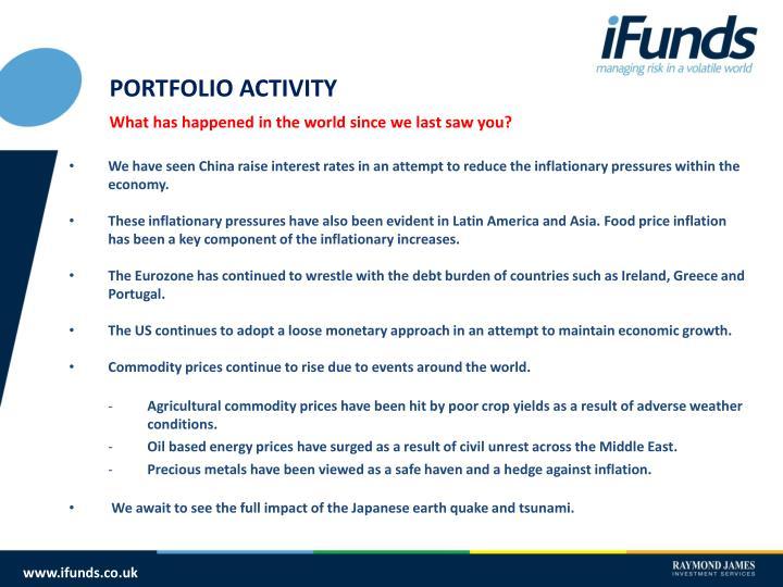 PORTFOLIO ACTIVITY