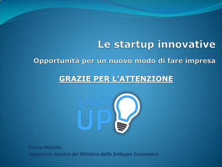 Le startup innovative