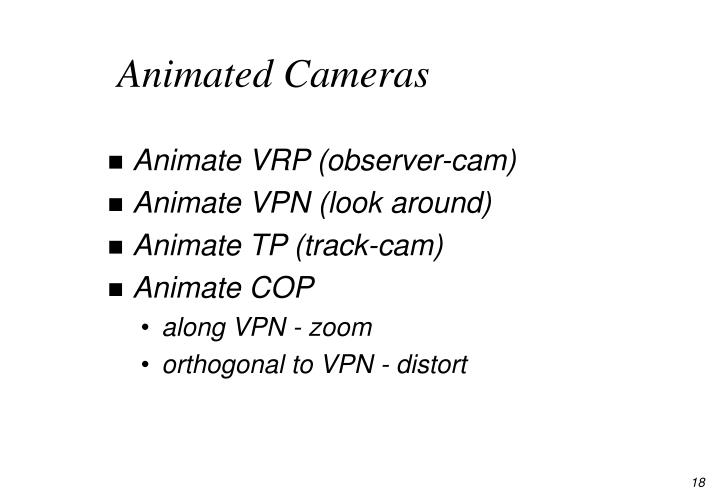 Animated Cameras